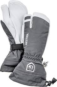 Hestra Womens Mens And Womes Ski Gloves Army Leather 3 Finger Winter Mitten