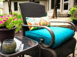finished chair with new cushion and pillow recover outdoor cushions how to patio furniture a