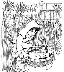 Small Picture Coloring page baby Moses Kleurplaat Pinterest Baby moses