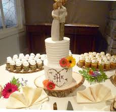 Rustic 2 Tier Wedding Cake With Cupcakes Year Of Clean Water