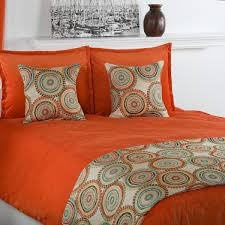 orange comforter set queen visionexchange co in bright sets inspirations 11
