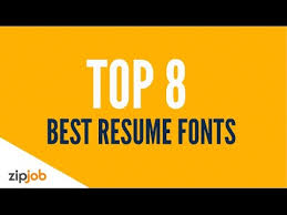 Resume 2017 Amazing The Top 60 Resume Fonts For 20160 YouTube