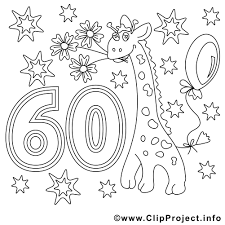 Kleurplaten Verjaardag Opa 60 Jaar Ausmalbild Zum 60 Geburtstag