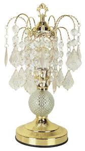 chandelier style table lamp in gold finish