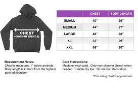 Hoodie Unisex Size Chart Size Chart Giant Hugs