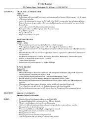 Junior Trader Resume Samples Velvet Jobs