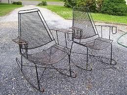 vtg mid century patio wrought iron