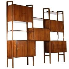 wall units desk mid century danish modern shelving wall unit desk in walnut after mid century wall units desk