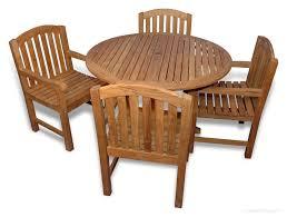 teak outdoor dining set for 4 round