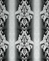 3d Damast Behang Edem 770 30 Barok Behang Structuur Vinylbehang Zwart Wit Antraciet Zilver