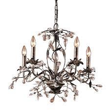 elk lighting chandelier deep rust 5 light on viviana elk lighting chandelier