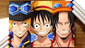 drawing sabo luffy ace one piece