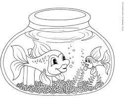 Small Picture Fishbowl Coloring Page KinderArt