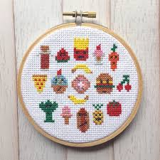 Cross Stitching Patterns Mesmerizing Snack Attack Food Cross Stitch PATTERN DOWNLOAD Needlework