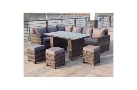 rattan outdoor corner sofa dining set garden furniture