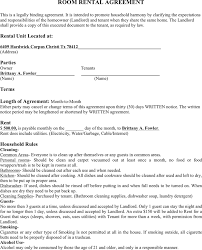 Room Rental Contract Room Rental Agreement Template Free Download Speedy Template