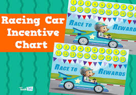 Racing Car Incentives Chart Teacher Resources And