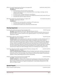 Infectious Disease Pharmacist Sample Resume