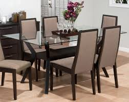 gorgeous look of glass dining table base ideas excellent decorating ideas using rectangular brown glass