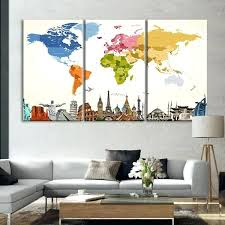 map wall art vintage colors world map masterpiece multi panel canvas wall art map wall art on multi panel wall art uk with map wall art vintage colors world map masterpiece multi panel canvas