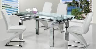 extending glass dining table and chairs marvellous extendable glass dining table