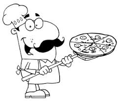 pizza party clipart black and white. Perfect Black Pizza Black And White Chef Clipart Throughout Party Clipart Black And White A