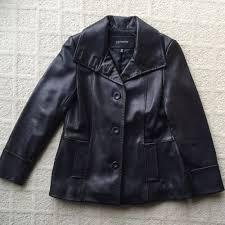 details about gorgeous petite black jones new york leather jacket