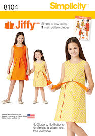 Simplicity Patterns On Sale Beauteous Simplicity 48 Child's And Girls' Jiffy Reversible Wrap Dress