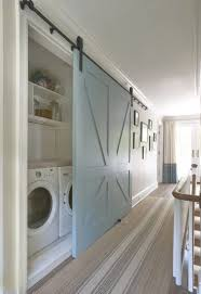 hall laundry barn door