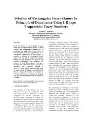 principle of dominance pdf solution of rectangular fuzzy games by principle of
