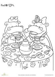 Small Picture american girl tea party ideas Kids Tea Party Birthday Coloring