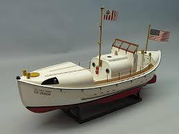 dumas uscg 36 motor lifeboat rc wooden scale powered boat kit 1258