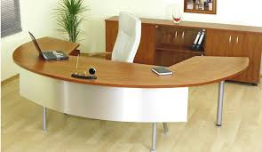 unique office table wooden desks in asymetric design