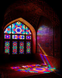 light night window glass arch color darkness lighting material stained glass symmetry