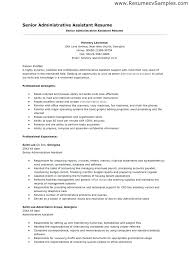 Medical Assistant Resume Objectives Resume Templates For Administrative Assistant Entry Level Medical 93