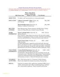 Resume Nursing Template And Examples Nursing Student Resumes