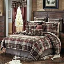 red plaid bedding plaid bed spreads brown tan red plaid comforter queen set cabin themed bedding