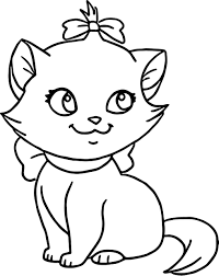 Cutre Cat Coloring Page Cute Kitten Coloring Pages Bebo Pandco