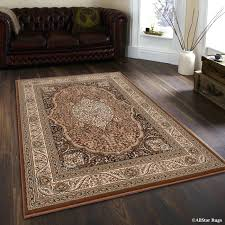high end area rugs high end ultra dense fl art brown area rug high end area