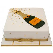 Large Champagne Bottle Birthday Cake