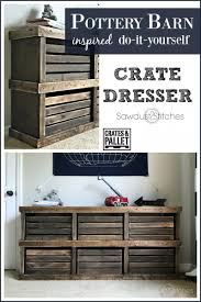 wood crate furniture diy. pottery barn inspired crate dresser sawdust2stitchescom wood furniture diy