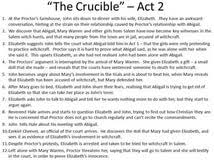 on the crucible essay on the crucible