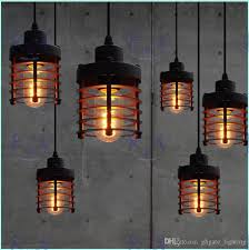 vintage wrought iron pendant lamp