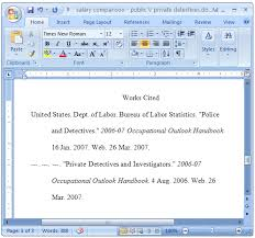 Work Citation Mla Format Mla Format For Essays And Research Papers Using Ms Word 2007
