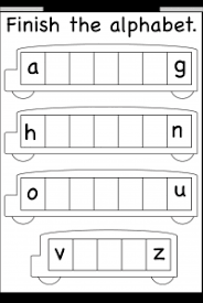 Letters Missing Letters Free Printable Worksheets