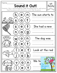 Sound it Out! Color the beginning, middle and ending sounds- CVC ...