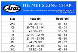 Arai Ck6 Size Chart Arai Ck 6 Junior Karting Helmet Arai Helmets Helmets