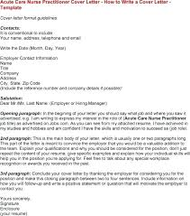 Cover Letter For Nurse Practitioner Job Resume Cover Letter Examples