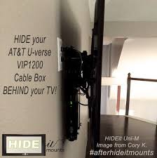 tv on wall where to put cable box. wall mounted cable box neatly hidden behind the tv with hideit uni-m. uni-m adjusts to fit a vertical height of depth length additional sizes tv on where put o