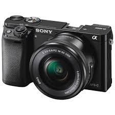sony camera. sony alpha a6000 mirrorless digital camera with 16-50mm lens (black)